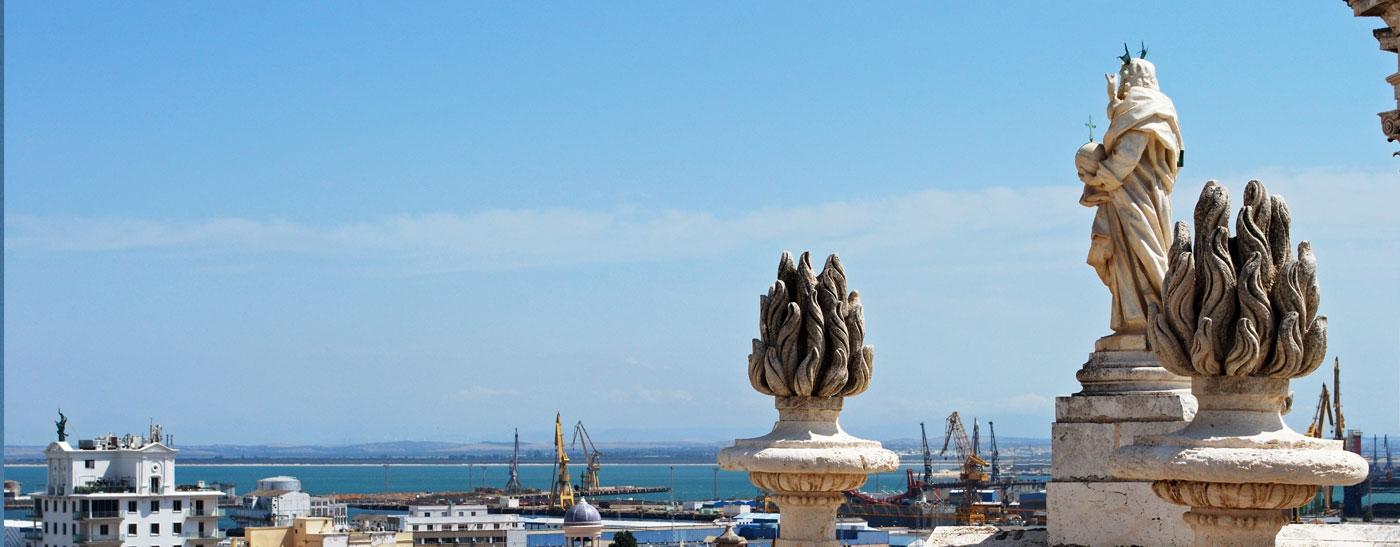 sculpture looking across bay